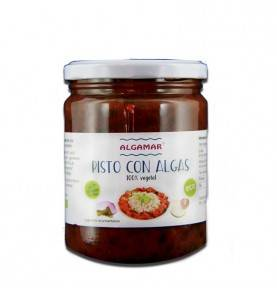 Seaweed pisto (tomato, onion, courgette, pepper and wakame seaweed), ALGAMAR, 420 gr.