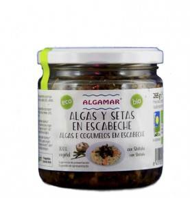 Seaweed and mushrooms in escabeche with Shiitake, ALGAMAR, 265 gr.