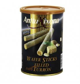 Wafer sticks filled Turron 200g, Antiu Xixona