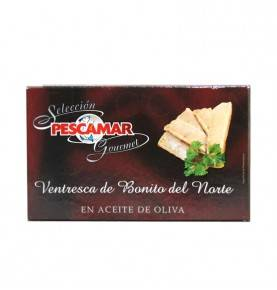 White tuna belly in olive oil, Pescamar Gourmet, 120 gr.