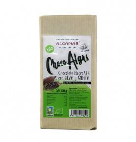 Organic Raw Chocolate with Seaweed (ulva and mint), 100 gr.