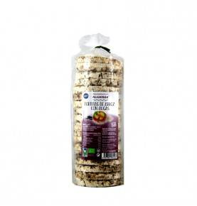 Organic Rice Cakes  with Seaweed, 140 gr., Algamar