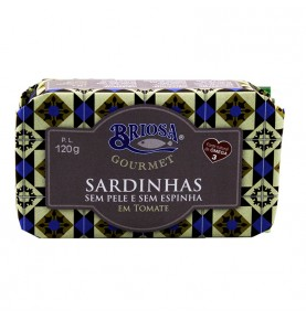 Sardines Skinless and boneless in tomato sauce, Briosa Gourmet, 120 gr.